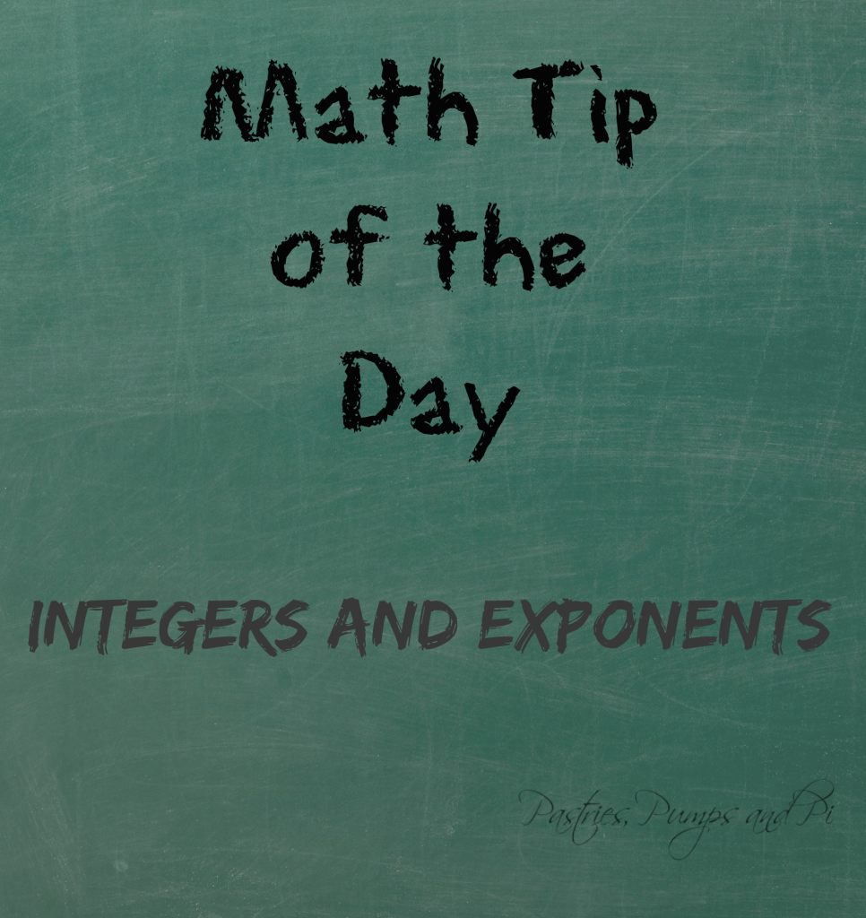 Integers and Exponents