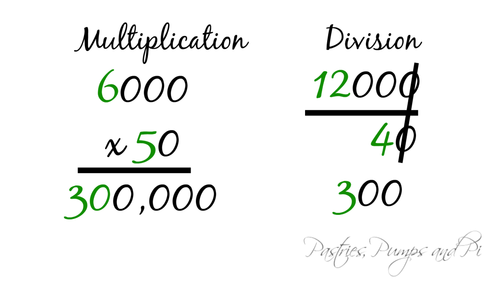 Multiply and Divide with Zeros 2