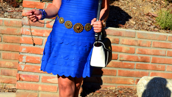 Blue Scalloped Dress