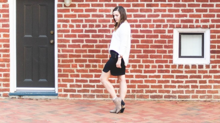 Black and White with Booties