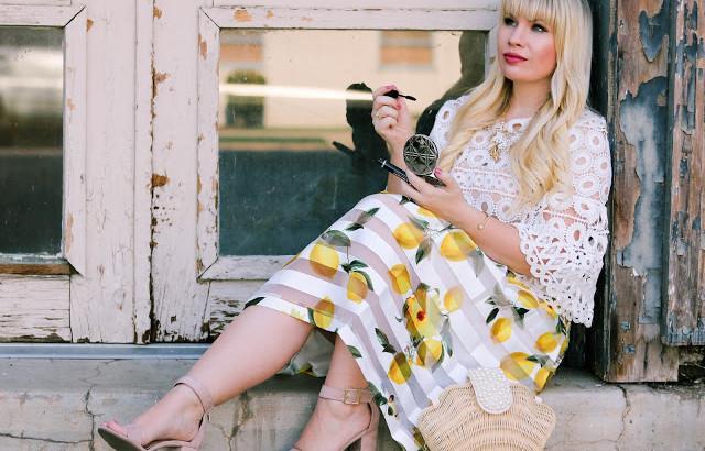 11 - lemon print skirt